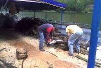 Sortiranje otpada na plovećoj platformi